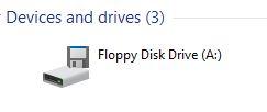 Windows 10 Floppy Drive Icon